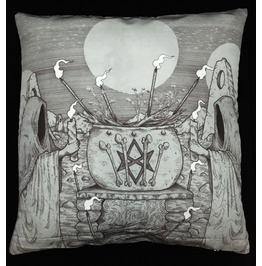 Horror Ritual Pillow Cover