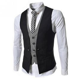Steampunk Goth British Style Slim Fit Vest Waistcoat Men