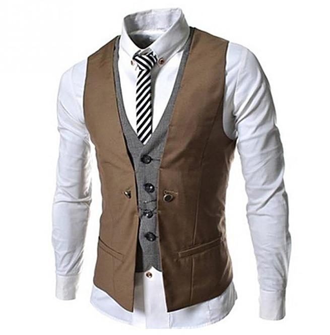 Steampunk Goth British Style Slim Fit Vest Waistcoat