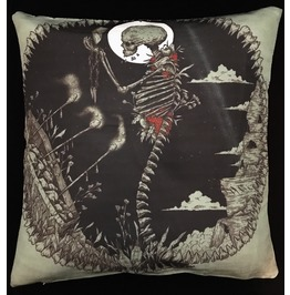 Horror Skeleton And Coffin Pillow Cover