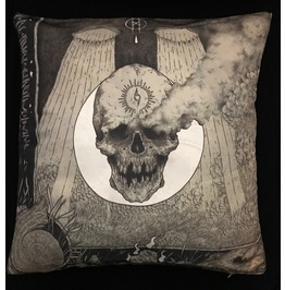 Horror Skull And Smoke Pillow Cover