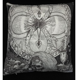 Horror Skull And Snake Pillow Cover