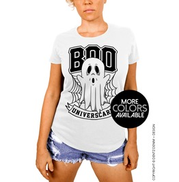 Boo Universcary, Halloween University Costume, Women's Boyfriend Fit T Shirt