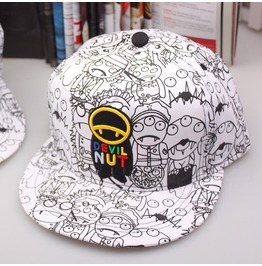 Street Style Cartoon Vampire Unsiex Adjustable Snapback Baseball Caps