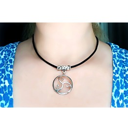 Bdsm Symbol Submissive Collar Choker Triskele Triskelion Necklace Dominant