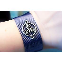 Submissive Dominant Bracelet Bdsm Symbol Triskele Triskelion Cuff Slave