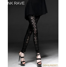 Black Gothic Mesh Laciness Legging For Women K 187