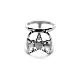 Coven | Ring ~ Gothic, Pentacle, Witchy Double Ring | Trickery