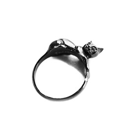 Familiar | Ring In Black ~ Gothic, Cat, Witch Ring | Trickery