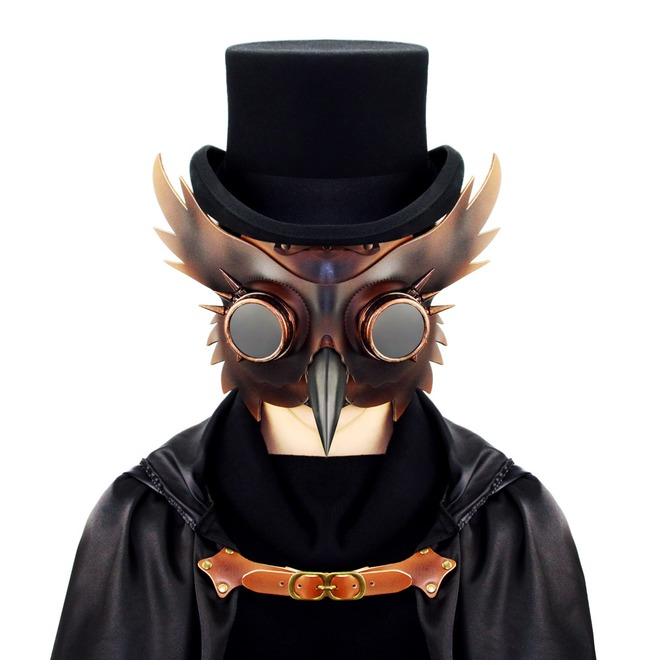 Steampunk Plague Bird Halloween Rivet Goggles | RebelsMarket