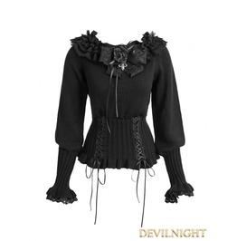 Black Gothic Lolita Sweater Lm 001