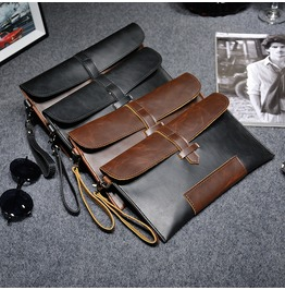 Men's Long Wallet Pu Leather Vintage Clutch Purse Gift