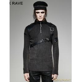 Steampunk Belt Sweater For Men M 035
