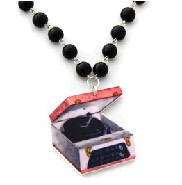 Women's Retro Record Player Necklace
