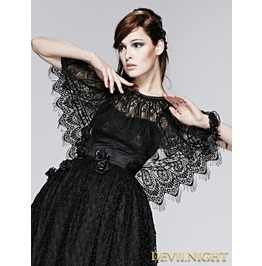 Black Lace Gothic Two Wear Cappa S 151