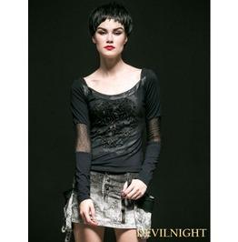 Alternative Black Gothic Punk Shirt For Women T 367