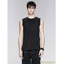 Vintage Sleeveless Shirt For Men T 392