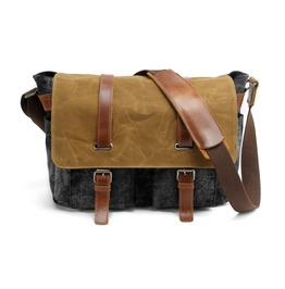 Men's Waterproof Canvas Messenger Bag Outdoor Sport Shoulder Bag