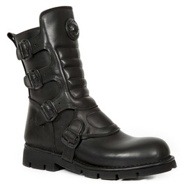 New Rock Black Crust Flat Goth Inspired Boots