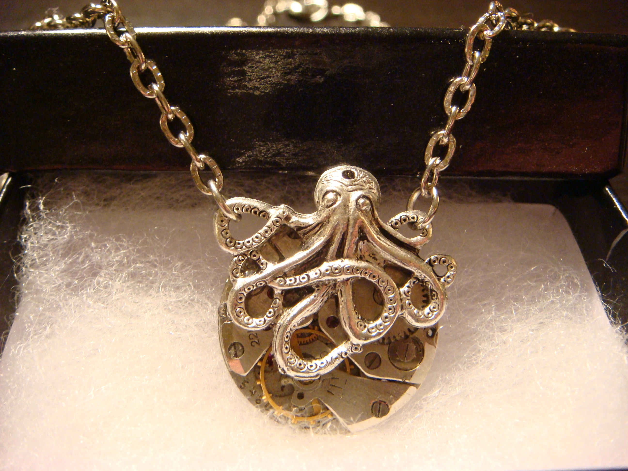 steampunk octopus pocket watch
