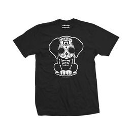 Men's Day Of The Dead Sugar Skull Puppy Dog T Shirt