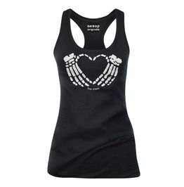 Women's Skeleton Crimson Heart Tank Top