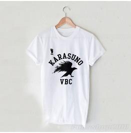 Haikyuu Karasuno Vbc Anime Volleyball Hinata Black White T Shirt