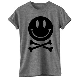 Smile Skull Bones T Shirt Tee Mdma Acid Party Dope Hipster Cool Emo Gothic