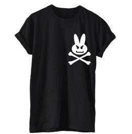 Angry Bunny Skull Bones T Shirt Tee Rabbit Dope Hipster Cool Emo Gothic