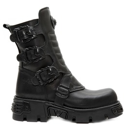 New Rock Wild Black Crust Thick Sole Boots