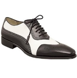 Handmade Men Spectator Shoes, Men Black And White Formal Shoes, Mens Shoes