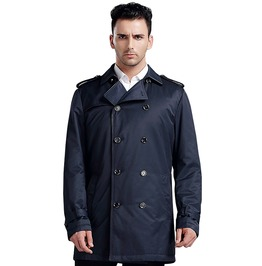 Spring Autumn Removable Lining Turn Down Collar Military Jacket Men