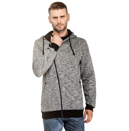 Oblique Zipper Spring Autumn Hooded Jacket Men