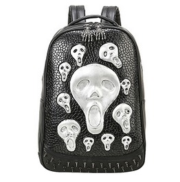 Skull Rivet Pu Leather Punk Gothic Travel Backpack