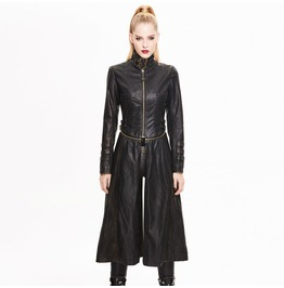 Women's Punk Detachable Long Jacket(Rub The Brassy)
