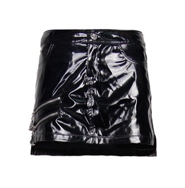 Women's Punk Black Leather Skirt