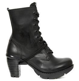 New Rock Seora Black Crust Trail Heels Gothic Boots