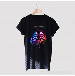 Against The Current In Our Bones 2016 Black Unisex T Shirt