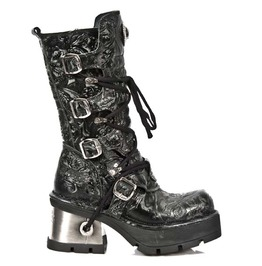 New Rock Women's Seora Vintage Floral Design Boots