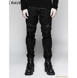Black Gothic Military Uniform Male Trousers K 279