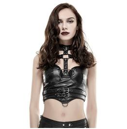 Punk Rave Women's Punk Straps Faux Leather Corselet Y655