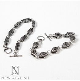 Unique Carved Rectangular & Diamond Shaped Metal Bracelets 85