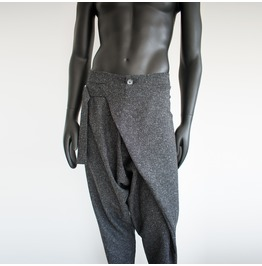 Dark Gray Harem Baggy Sweatpants, Mens Yoga Pants, Loose Pants