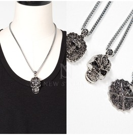 3 Different Types Of Skull Pendants Metal Necklace 75