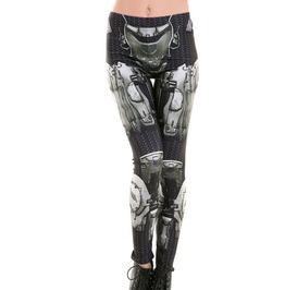 Punk Rock Harajuku Robot Armor 3 D Print Fitness Leggings