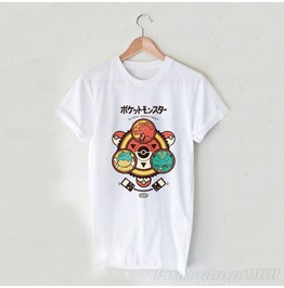 Pocket Monster Trainer White Unisex T Shirt