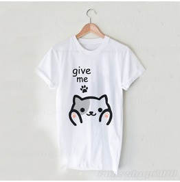 Harajuku Neko Atsume Kitty Cat White Unisex T Shirt