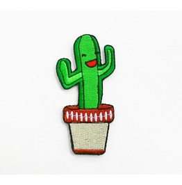 Lovely Cactus Iron On Patch.