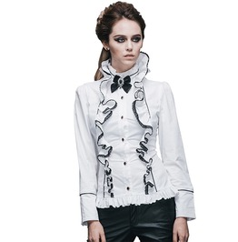 Women's Gothic Lotus Leaf Collar Long Sleeve Top