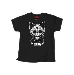 Children's Day Of The Dead Sugar Skull Kitten Cat T Shirt